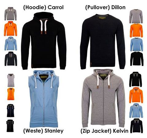 Indicode Pullover, Hoodies, Zipper oder Westen ab 18,45€