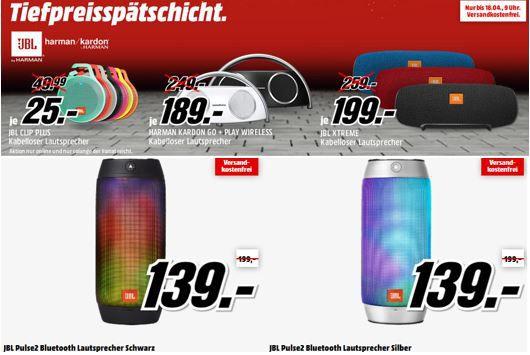 HARMAN KARDON und JBL   günstige Lautsprecher in der Media Markt Tiefpreisspätschicht.