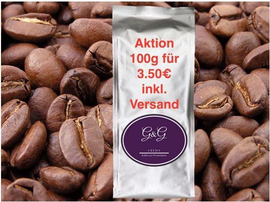 G&G Premium Kaffeebohnen 100 gr. Probepackungen für je nur 3,50€