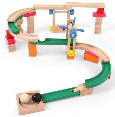 Infantastic Kugelbahn 46 teilig aus Holz für 11,95€ (statt 20€)