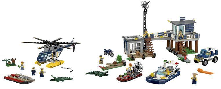 LEGO City Sets: Verfolgung im Hubschrauber & City Polizeiwache statt 76€ für 60,89€