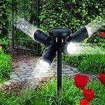 LED Solarlampe mit 4 justierbaren Strahlern für nur 17,99€