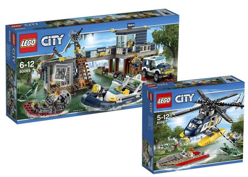 Lego City Angebot LEGO City Sets: Verfolgung im Hubschrauber & City Polizeiwache statt 76€ für 60,89€