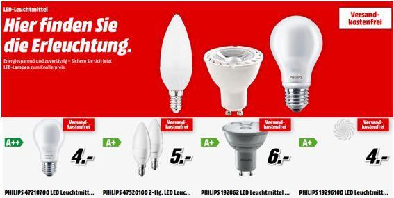 MüllerLicht und Philips   günstige LED Leuchtmittel bei Media Markt
