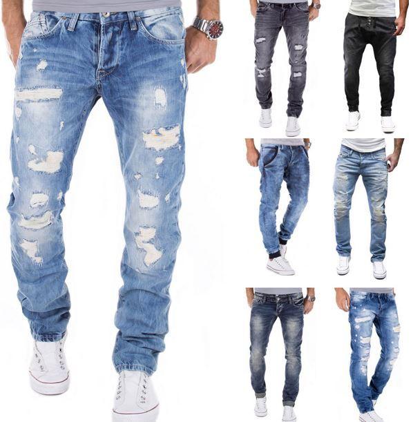 MERISH Destroyed Merish   Destroyed Clubwear Herren Jeans für je 24,90€