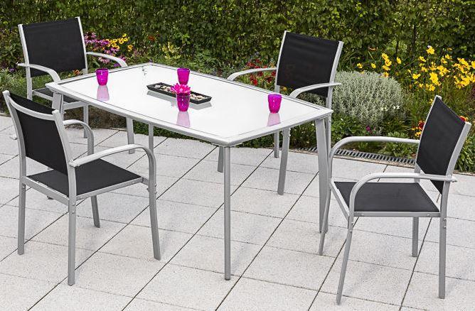 MERXX Ostia MERXX Ostia   Garten Sitzgruppe: 4 Stühle mit Tisch für 259,90€