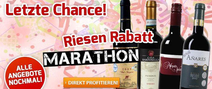 Nur heute: Alle Wein Angebote vom Marathon nochmal reduziert