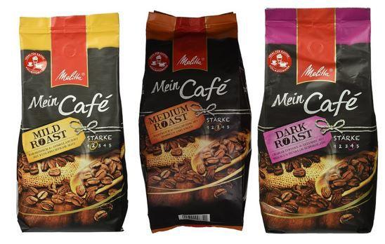 Melitta Mein Café   1Kg Bohnenkaffe ab 8,54€