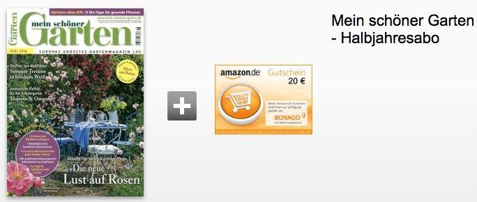 Mein schoener Garten 6 Ausgaben mein schöner Garten für 4€ dank 20€ Verrechnungsscheck