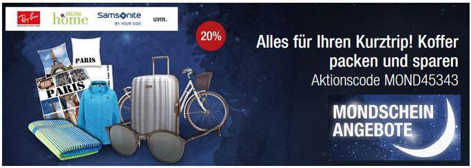 Galeria Kaufhof Mondschein Angebote mit 20% extra Rabatt in vielen Kategorien