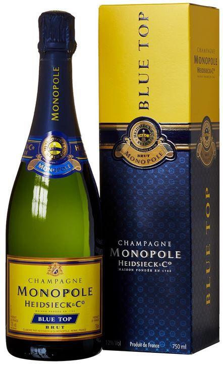 Monopole 3 Flaschen Heidsieck & Co. Monopole Blue Top Brut Champagner für 49€ (statt 65€)