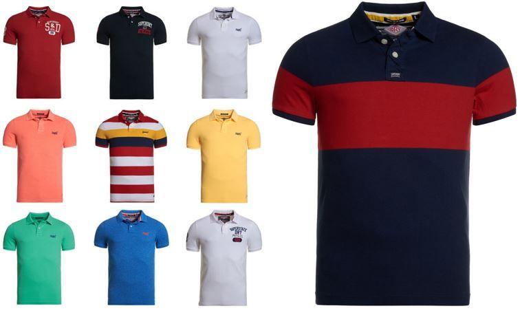 NEU Superdry Poloshirts Superdry Herren Polo Shirts versch. Modelle und Farben für je 24,95€
