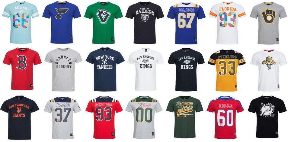 NFL T Shirts Majestic Athletic NFL Herren T Shirts z.B. New York Yankees für je 13,99€