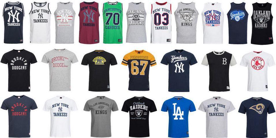 NHL T Shirts Majestic Athletic NFL Herren T Shirts z.B. New York Yankees für je 13,99€