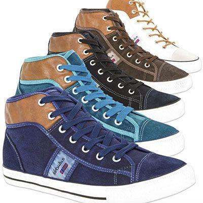 Nebulus Nevada Teil Leder Sneaker für Damen und Herren je 24,99€