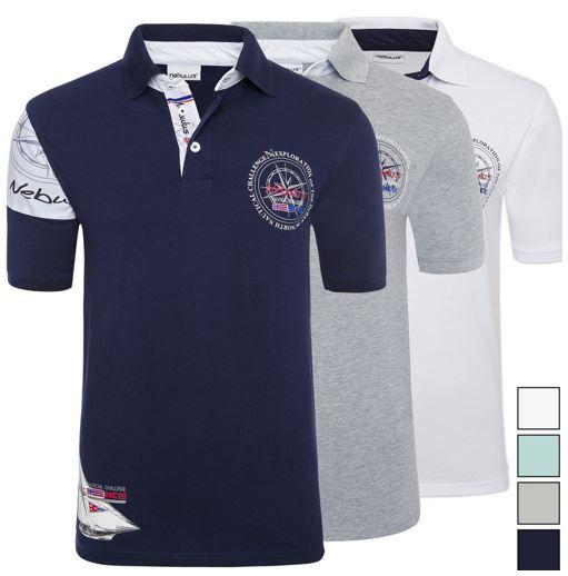 Nebulus Polo Shirts Nebulus Deep Blue   Damen und Herren Polo Shirt für je 19,99€.