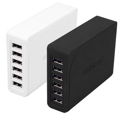 Ninetec 60W 6 Port Multi USB Netzteil für 19,99€ (statt 30€)