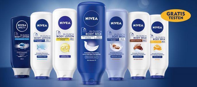 Nivea In Dusch gratis testen dank Geld zurück Garantie