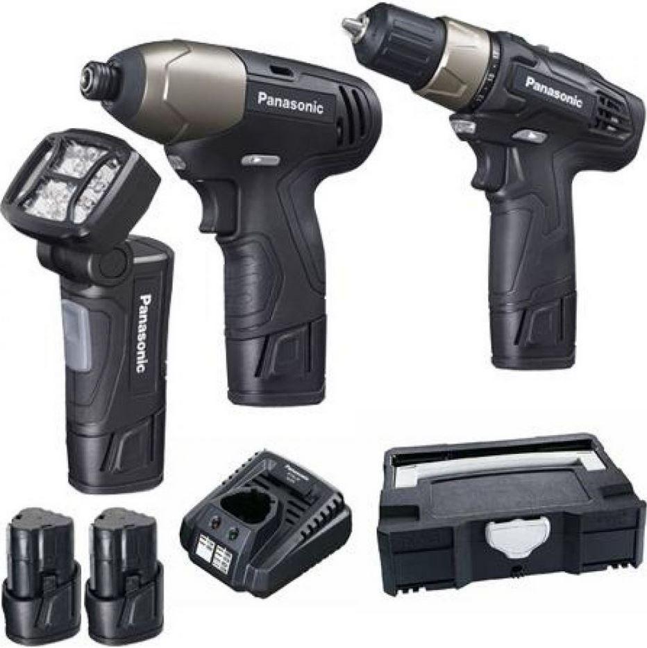 Pansonic Werkzeug Bundle mit Akku Bohrer + Akku Schrauber und viel Zubehör statt 189€ für 129€