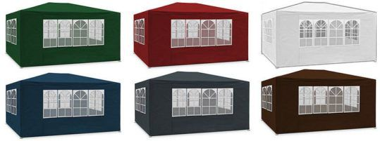 Deuba 3 x 6 m Garten Pavillon / Festzelt mit Seitenteilen für 58,45€