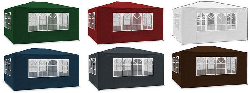 Deuba 3 x 6 m Garten Pavillon / Festzelt mit Seitenteilen für nur 54,95€