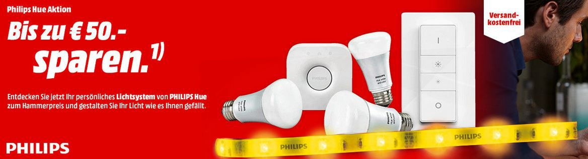 Philips HUE Lichtsysteme   Starter Sets und Zubehör günstig in der MediaMarkt Aktion