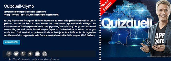Gratis Tickets für den Quizduell Olymp in Hamburg