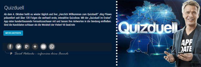 """Quizduell Freikarten für """"Quizduell"""" bis 04. November in Hamburg"""