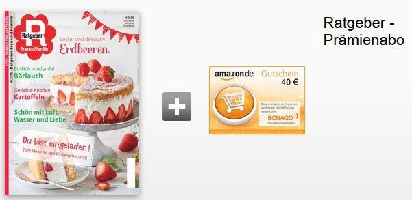 Ratgeber Abo Ratgeber Jahresabo   dank 40€ Amazon Gutschein für effektiv nur 6,80€