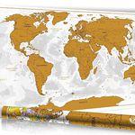 Rubbel Weltkarte (90x60cm) mit 3D Relief-Optik für nur 9,97€ (statt 17€)