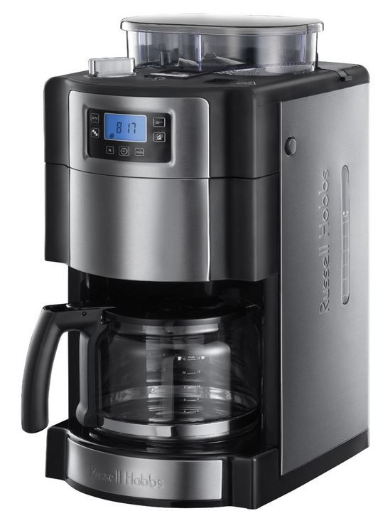 Russel Hobbs Kaffeemaschine Russell Hobbs Buckingham Grind & Brew   Kaffemaschine mit integriertem Mahlwerk für 99,99€
