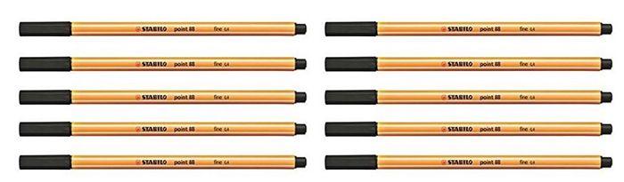 ABGELAUFEN! 10er Pack STABILO point 88/46 Fineliner ab 0,44€ (statt 6€)