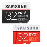 Samsung MicroSDHC 32GB EVO Plus ab 9€ +  SDHC 32GB PRO Plus Karte für 20€