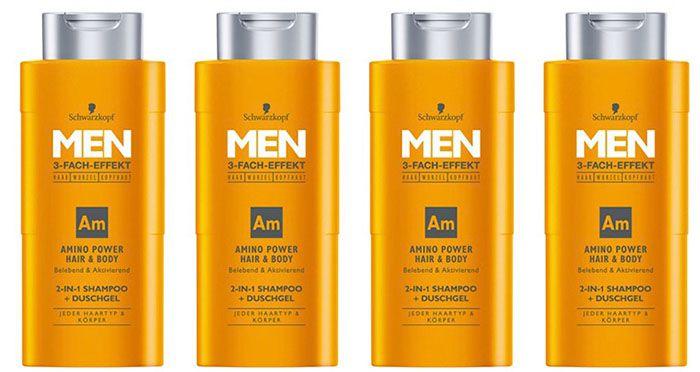 4er Pack Schwarzkopf MEN 2in1 Shampoo für 5,40€   Plus Produkt