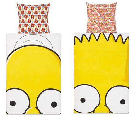 Simpsons Bettwaesche Simpsons Renforcé Bettwäsche 135 x 200, 80 x 80 cm ab je 10€ (statt 24€)