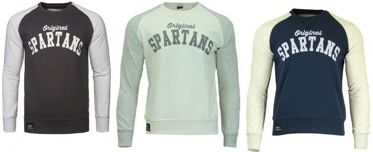 Spartans History Raglan   Herren College Sweater div. Farben für je 15,99€