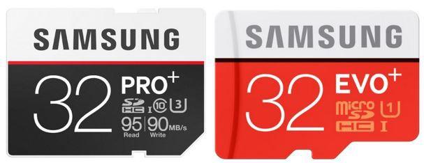 Speicherkarten Angebot Samsung MicroSDHC 32GB EVO Plus ab 9€ +  SDHC 32GB PRO Plus Karte für 20€