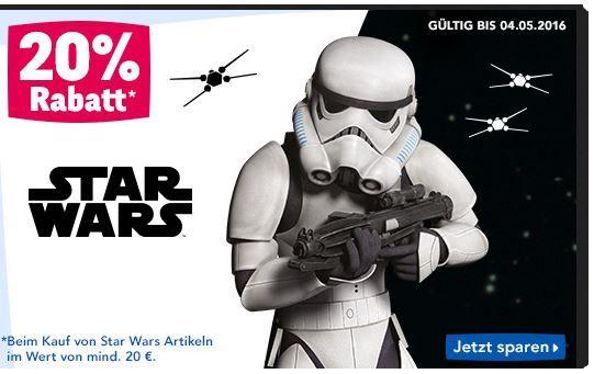 Star Wars Rabatt 20% Rabatt auf StarWars Artikel ab 20€   z.B. LEGO Battle Droid Carrier statt 53€ für 39,99€