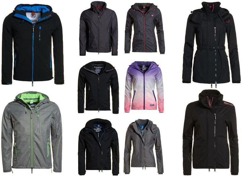 Superdry Backdraft Superdry  Jacken   verschiedene Modelle für je 39,95€