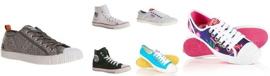 Superdry High & Low Sneakers für Damen und Herren je 13,95€