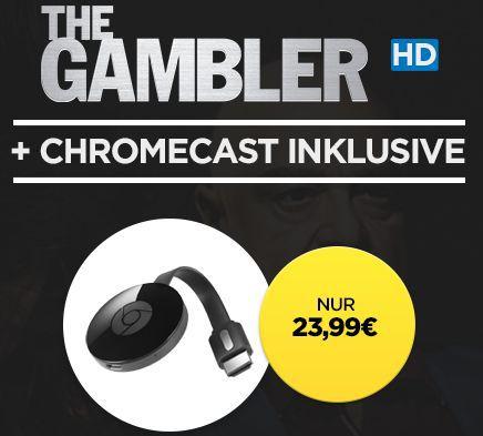 Chromecast 2 + The Gambler (HD) für 23,99€ (statt 37€)
