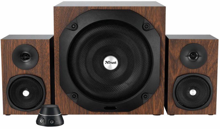 Trust GXT38 Trust Vigor 2.1 Holz Lautsprechersystem mit Subwoofer statt 70€ für 54,99€