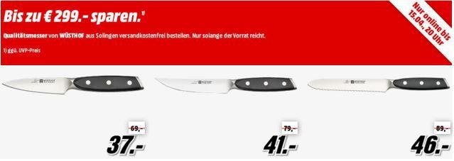 Wüsthof Sale bei Media Markt   hochwertige Messer zu guten Preisen