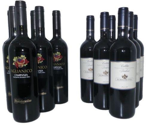 6 Flaschen Weiß  oder Rotwein für je 19,99€