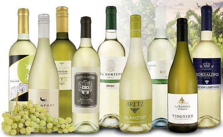 Weißwein Probierpaket mit 9 Flaschen für 39,90€