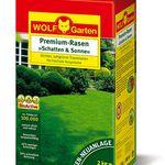 2kg Wolf Garten LP 100 Rasen Saatgut Premium Schatten & Sonne für 29,90€ (statt 36€)