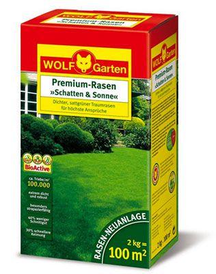Wolf Garten LP 100 2kg Wolf Garten LP 100 Rasen Saatgut Premium Schatten & Sonne für 29,90€ (statt 36€)