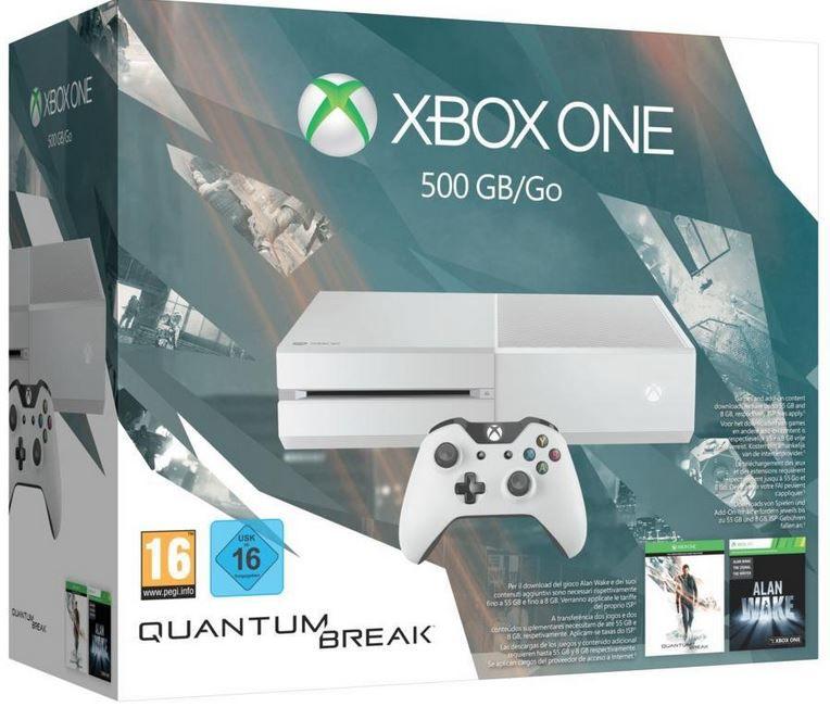 XBOX weiß Bundle Xbox One 500GB + Quantum Break + Alan Wake für 274€ + 22€ Gutschein