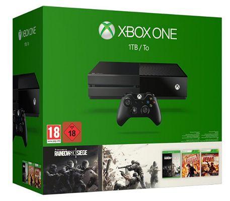 Xbox One Xbox One 1TB + Rainbow Six Siege + Rainbow Six Vegas 1 u. 2 + Doom statt 407€ für 320,99€