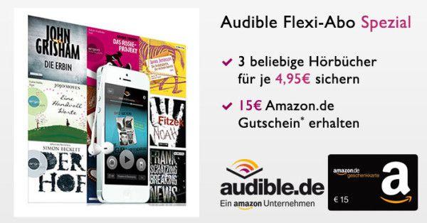 audible gutschein gratis bonus deal 600x314 Audible Neukunden dank Bonus Gutschein 3 Monate gratis statt 14,95€